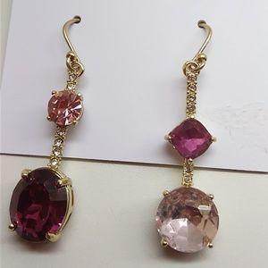 Kate Spade New Linear Magenta & Pink Earrings